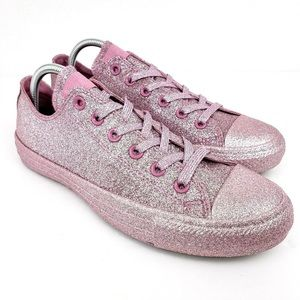 NEW Converse Chuck Taylor Pink Glitter Low Top